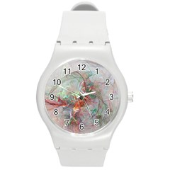 Shroud Clot Light  Round Plastic Sport Watch (m)