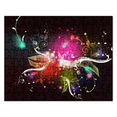 Plant Patterns Colorful  Rectangular Jigsaw Puzzl