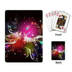 Plant Patterns Colorful  Playing Card