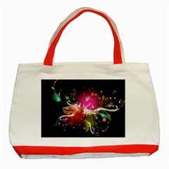 Plant Patterns Colorful  Classic Tote Bag (red)