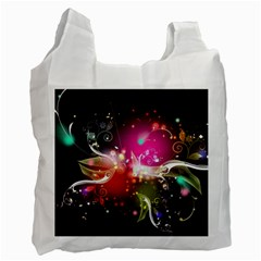 Plant Patterns Colorful  Recycle Bag (two Side)
