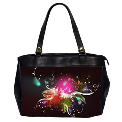 Plant Patterns Colorful  Office Handbags (2 Sides)