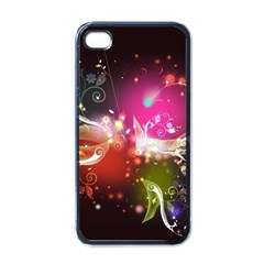 Plant Patterns Colorful  Apple Iphone 4 Case (black)