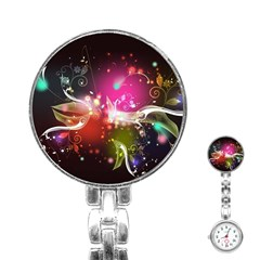 Plant Patterns Colorful  Stainless Steel Nurses Watch