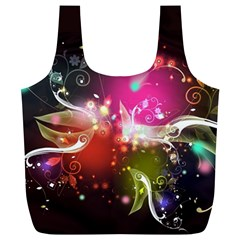 Plant Patterns Colorful  Full Print Recycle Bags (l)