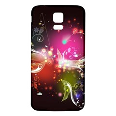 Plant Patterns Colorful  Samsung Galaxy S5 Back Case (white)