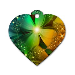 Flowers Petals Colorful  Dog Tag Heart (two Sides)