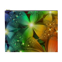 Flowers Petals Colorful  Cosmetic Bag (xl)