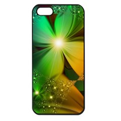 Flowers Petals Colorful  Apple Iphone 5 Seamless Case (black)