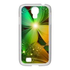 Flowers Petals Colorful  Samsung Galaxy S4 I9500/ I9505 Case (white)