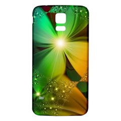 Flowers Petals Colorful  Samsung Galaxy S5 Back Case (white)