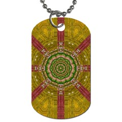 Mandala In Metal And Pearls Dog Tag (two Sides)