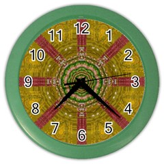 Mandala In Metal And Pearls Color Wall Clocks