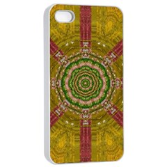 Mandala In Metal And Pearls Apple Iphone 4/4s Seamless Case (white)