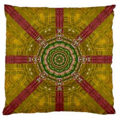 Mandala In Metal And Pearls Large Cushion Case (two Sides)