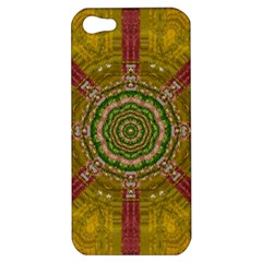 Mandala In Metal And Pearls Apple Iphone 5 Hardshell Case