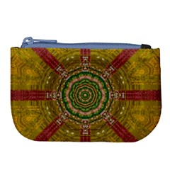 Mandala In Metal And Pearls Large Coin Purse