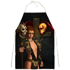 The Dark Side, Women With Skulls In The Night Full Print Aprons