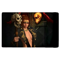 The Dark Side, Women With Skulls In The Night Apple Ipad Pro 12 9   Flip Case