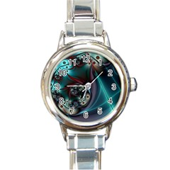 Rotation Patterns Lines  Round Italian Charm Watch