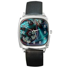 Rotation Patterns Lines  Square Metal Watch