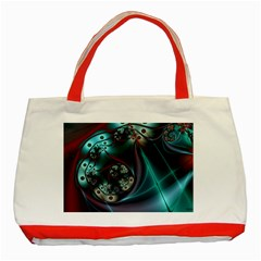 Rotation Patterns Lines  Classic Tote Bag (red)
