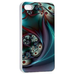 Rotation Patterns Lines  Apple Iphone 4/4s Seamless Case (white)