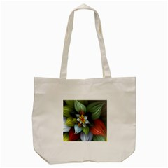 Flower Background Colorful Tote Bag (cream)