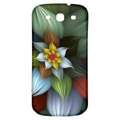 Flower Background Colorful Samsung Galaxy S3 S Iii Classic Hardshell Back Case