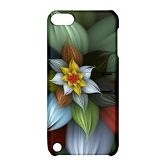 Flower Background Colorful Apple Ipod Touch 5 Hardshell Case With Stand