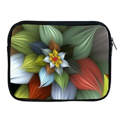Flower Background Colorful Apple Ipad 2/3/4 Zipper Cases