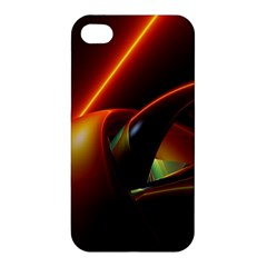 Line Figure Background  Apple Iphone 4/4s Hardshell Case