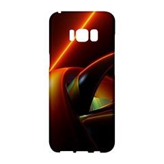 Line Figure Background  Samsung Galaxy S8 Hardshell Case