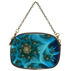 Fractal Flower White Chain Purses (one Side)