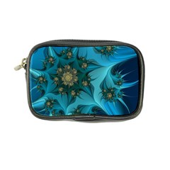 Fractal Flower White Coin Purse