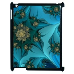 Fractal Flower White Apple Ipad 2 Case (black)