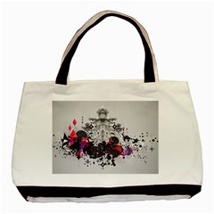 Figure Circle Triangle Basic Tote Bag (two Sides)
