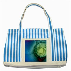 Connection Ball Light  Striped Blue Tote Bag