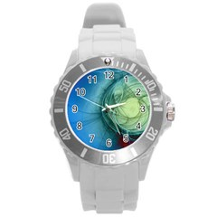 Connection Ball Light  Round Plastic Sport Watch (l)