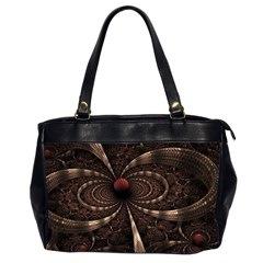 Circles Spheres Lines  Office Handbags (2 Sides)