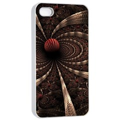 Circles Spheres Lines  Apple Iphone 4/4s Seamless Case (white)
