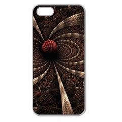 Circles Spheres Lines  Apple Seamless Iphone 5 Case (clear)