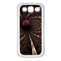 Circles Spheres Lines  Samsung Galaxy S3 Back Case (white)