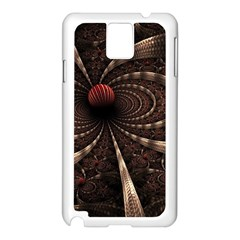 Circles Spheres Lines  Samsung Galaxy Note 3 N9005 Case (white)