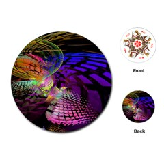 Fractal Patterns Background  Playing Cards (round)