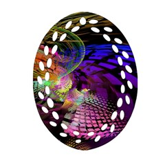 Fractal Patterns Background  Ornament (oval Filigree)