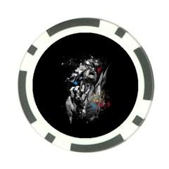 Man Rage Screaming  Poker Chip Card Guard