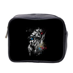 Man Rage Screaming  Mini Toiletries Bag 2 Side