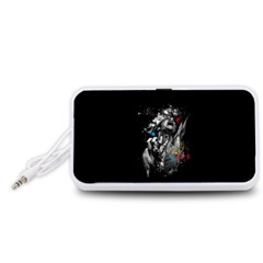 Man Rage Screaming  Portable Speaker (white)
