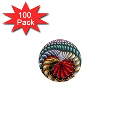 Circles Lines Background  1  Mini Magnets (100 Pack)